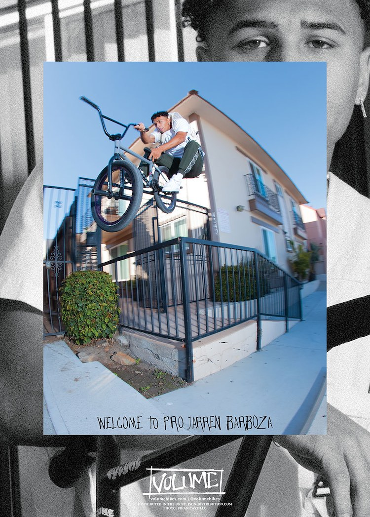 Jarren Barboza Volume Bikes Pro team