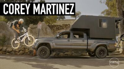 Corey Martinez Toyota Tacoma travel setup