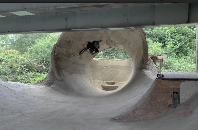 DIY Full Pipe BMX video