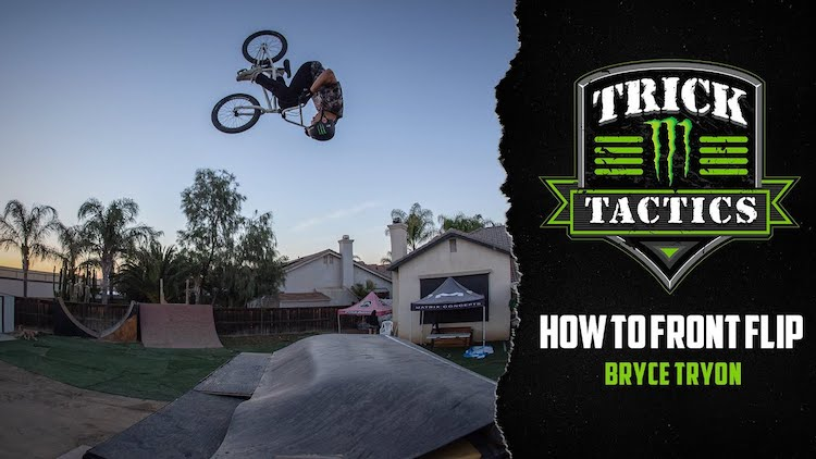 How To Front Flip BMX Bike Bryce Tryon